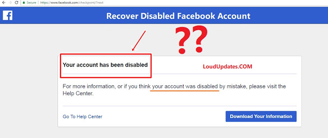 facebook account disable